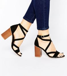 ASOS Strappy Block-Heeled Sandals