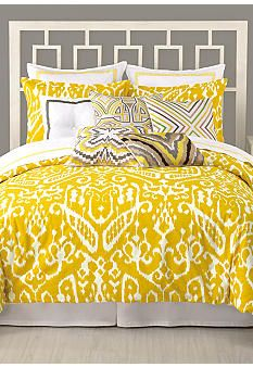 This matches perfectly with the shower curtain I got off my registry!!! Trina Turk Ikat Bedding Collection