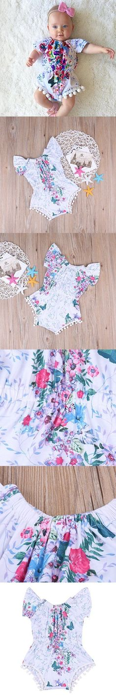 Seriously how gorgeous is this frilly and floral romper. So much cute detail! The perfect outfit for baby girl.