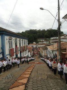 Procissão de Corpus Christi - Prados - MG - Brasil