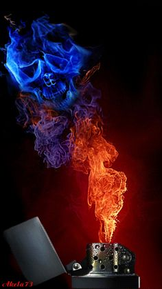 burning skull on fire animated gif image Skull Pictures, Gif Pictures, Skull Wallpaper, Galaxy Wallpaper, Screen Wallpaper, Fogo Gif, Fire Animation, Skull Fire, Flame Art