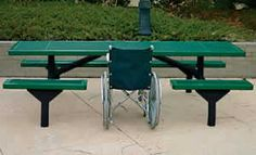 Some REALLY cool picnic table ideas for wheelchair users.