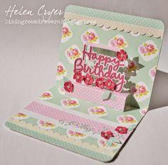 The Dining Room Drawers: Tanya Whelan Happy Birthday Pop Up Card mft scroll die