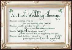 Irish Wedding Toast, Irish Wedding Blessing, Wedding Toasts, Grown Up Parties, Wedding Verses, Happy Day, Big Day, Blessings, Growing Up