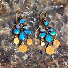 @judygeib Dangly #opal squash #earrings #24k #gold and #silver #jewelry #jewellery #handmade #handcrafted #judygeib @barneysnyofficial  @twistonline #yadayadayada