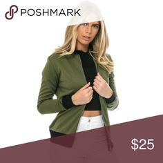 Long Sleeve Slim Thin Jacket Olive light thin jacket. Material: Cotton & Polyester. Brand new, never worn. 15% off 3 or more items. Jackets & Coats