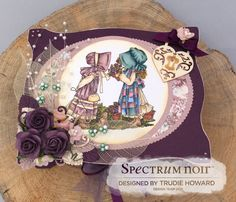 Trinket Box A Bouquet of Happiness All Spectrum Noir pens Neenah classic crest card MDF trinket box Designer papers Ribbon Flowers Designed by Trudie Howard Spectrum Noir Markers, Paper Ribbon, Holly Hobbie, Crafters Companion, Clear Stamps, Paper Design, Trinket Boxes, Flower Designs, Card Making