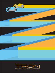 Tron Movie Poster Andy Helms Geek Art Fan Art