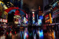 Times Square Reflections - photography by Dmitrii Lezine