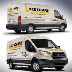 Ford Transit Van Wrap for Industrial Services company We are an industrial crane company. We sell Overhead Industrial Cranes and other types of Material Handling products. Van Wrap, Ford Transit, Car Brands, Business Design, Custom Cars, Industrial, Design Inspiration, Trucks, Vehicle Branding