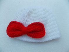 Crochet hat with large bowCrochet hat with bow by StephanDesign, $15.00
