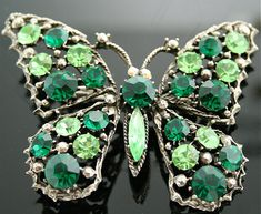Butterfly Brooch  Signed Costume Jewelry by by SITFineJewelry, $185.00