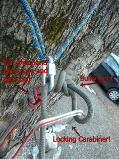 Bigfoot Mountain Guides: How To Use a Pull Cord For Rappelling
