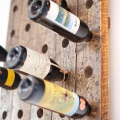 #vinstativ #vegg #drivved #gjenbruk #huller i tre #rødvin #hvitvin Wine Rack, Storage, Inspiration, Home Decor, Purse Storage, Biblical Inspiration, Decoration Home, Room Decor, Larger