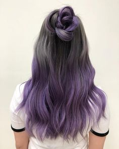 purple dip dye hair - hair styling- lila Dip Dye Haare – Haarstyling purple dip dye hair – hair styling check more at - Pastel Dip Dye, Purple Dip Dye, Dyed Hair Purple, Dyed Hair Pastel, Hair Color Purple, Hair Dye Colors, Dye My Hair, Cool Hair Color, Dyed Hair