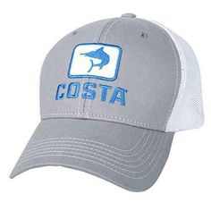 d34cbdcb755d Costa Del Mar Marlin Fitted Stretch Trucker Hat Gray/White #fashion  #clothing #shoes #accessories #mensaccessories #hats (ebay link)