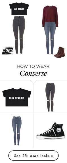 """Bff's"" by toty1008 on Polyvore featuring Topshop, Converse and Bos. & Co."