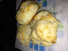 Biscuick Cheese-Garlic Biscuits recipe off of the box! They remind me of Ruby Tuesday's. TIP: Add more garlic powder than what the recipe calls for! I was not able to taste the garlic at all. I estimated how much more I put in.
