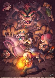 Super Mario Bros by SoyUnGnomo.deviantart.com on @DeviantArt