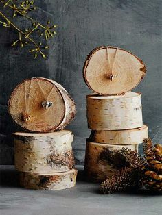 Cut logs make a great display prop for photos or at a craft show