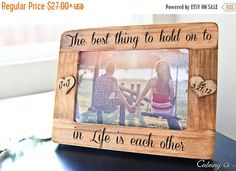 BLACK FRIDAY WEEK Personalized Picture Frame Engraved Frame for Couple ~ Engagement, Anniversary, Wedding Gift, Gift for Couple, Valentines