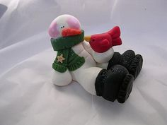 *CLAY ~ snowman by claykeepsakes, via Flickr