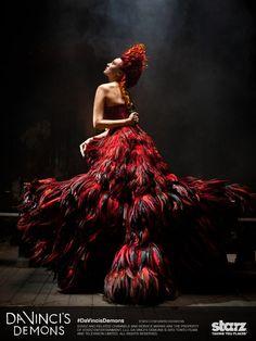 Da Vinci's Demons costume designer, the award-winning Annie Symons, was inspired by Alexander McQueen, Dolce & Gabbana, and Salvatore Ferragamo.