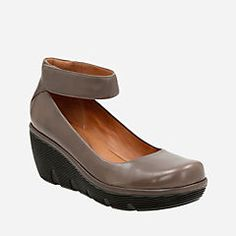 485fd470445d78 Clarene Tide Khaki Leather Rubber Shoes For Women, Ankle Strap Wedges,  Winter Shoes,