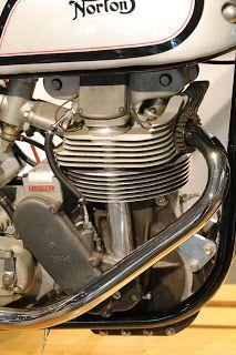 OldMotoDude: 1962 Norton Manx on display at the Barber Vintage Motorsports Museum -- Birmingham, Alabama Norton Motorcycle, Motorcycle Museum, Motorcycle Events, Motorcycle Engine, Motorcycle Leather, Racing Motorcycles, Vintage Motorcycles, Norton Manx, Honda Cx500
