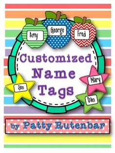 Are you thinking that you don't have time to make cute name tags or locker tags? Do you not like your handwriting? I can help you! I will create a set of tags for your class for the entire year, yes even if kids move in during the year! Pick one of these pattern shapes, send me a class list and your color choices and I'll whip them up and send them back to you within two days. (Unless, I get too many at one time, then I will email you and let you know when they will arrive!)You don't print…