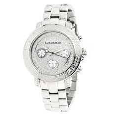 Luxurman Diamond Women's Watch. http://thebeautyoftime.tumblr.com/post/23507803116/luxurman-diamond-watch