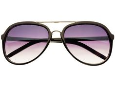 Stylish Retro Aviator Sunglasses Black A721