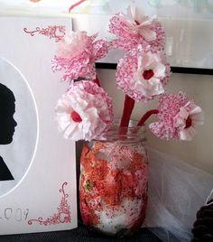 cupcake liner carnations