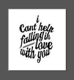 typography art print elvis song lyrics love by finchandfellow, $12.50