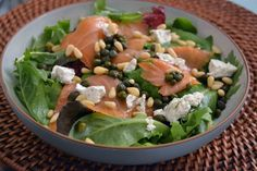 Salmon salad recipes salmon recipes oven with sauce grilled easy for christmas pinoy healthy with rice pan indian style photos Salad Recipes Healthy Lunch, Salmon Salad Recipes, Salad Recipes Video, Salad Recipes For Dinner, Healthy Eating, Healthy Life, Grilled Salmon Salad, Ham Salad, Paleo