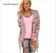 Jackets Coats 2016 new fashion irregular long sleeved cardigan Women printing speed spring autumn thin coat on http://ali.pub/r5s3k