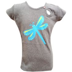With a lovely butterfly Tapete kinderkleding t-shirt grijs #kinderkleding #kidsfashion #tapete