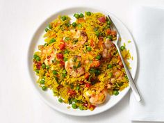 Spanish Shrimp and Rice Recipe : Food Network Kitchen : Food Network - FoodNetwork.com
