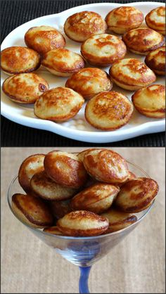 I bet you could cheat and make these in one of those mini cake pop irons. Sweet Rice Appo : Delicious Sweet recipe prepared using rice, banana, jaggery/sugar Indian Desserts, Indian Snacks, Indian Food Recipes, Indian Sweets, Sweet Desserts, Sweets Recipes, Cooking Recipes, Paneer Tikka, Tasty