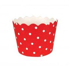 Mini Backförmchen Polka Dots Rot 12Stück