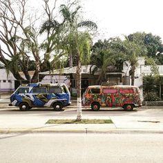 Liked on InstaGram: Hippievan x 2. #sayulita #nayarit #Mexico #vanlife #vanagon #baywindow #vw #volkswagen #hippievan