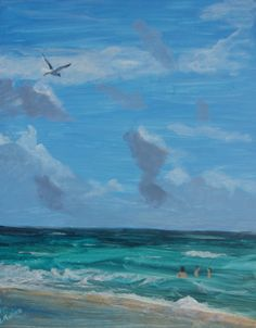 Original acrylic painting by fine artist and illustrator, Donna Rollins