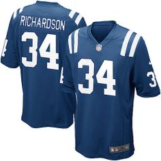 $89.99 Nike Limited Men's Nike Indianapolis Colts #34 Trent Richardson Limited Team Color Jersey