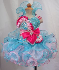 Hot Sale Toddler Baby Child Kids Girl's Glitz Cupcake Pageant Dress 1 6T   eBay