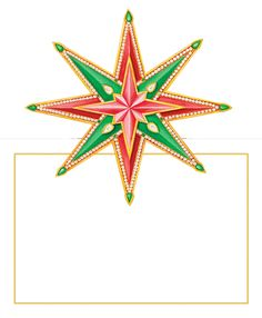 Caspari Jeweled Stars Christmas Designer Printed Die-Cut Place Cards Wholesale 86919P