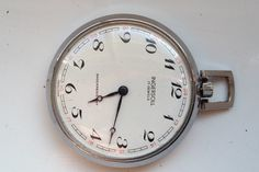 AUCTIONS ENDING ON WEDNESDAY 19 APRIL FROM 8pm NEW AUCTIONS STARTING FROM 8pm.......VINTAGE INGERSOLL 45mm SWISS SHOCK RESISTANT 24 HOUR DIAL WORKING POCKET WATCH