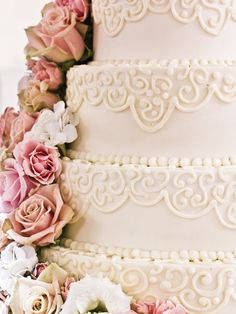 custom 5 tier buttercream wedding cake by the fort worth club with a fresh floral topper custom cakes pinterest receptions flower cake toppers and