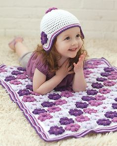 Orchid and Lilac Blankie Set by Cristina Mershon, Crochet Today!, July/August 2012
