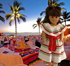 "American Girl 18"" doll Mexican Poblano Costume by Ase Bence"