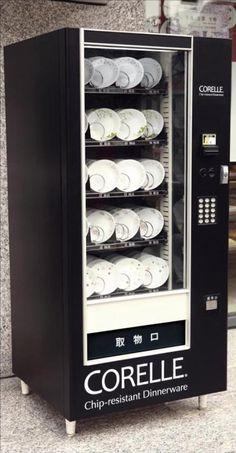 corelle vending machine **Like the black & white machine Claw Machine, Machine Design, Vintage Advertisements, Dinnerware, Locker Storage, Vending Machines, Cool Stuff, Industrial Machine, Wool Socks